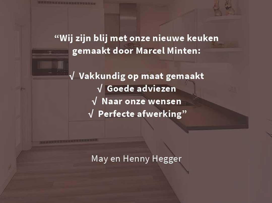 Minten fijn timmerwerk Meterik | portfolio koken - review Hegger